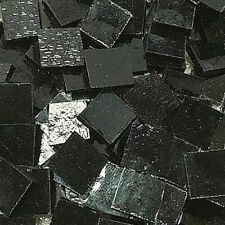 "1/2"" Black Stained Glass Mosaic Tiles (100 Pieces)"