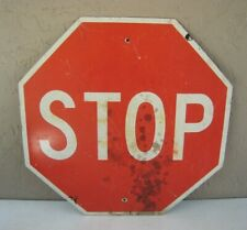 "1987 State of Georgia Street STOP Sign 30"" Aluminum Used"