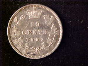CANADA VICTORIA 10 CENTS 1892