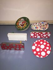 Vintage Tin/Metal Noise Maker Lot Of 6