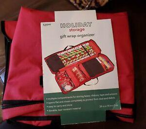 Joann's Holiday Storage Gift Wrap Organizer Red 39 x 14 x 5  77019-1