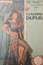 Cinema Magazine Kodak Film Experience of 1950 Claudine since Boxes Night