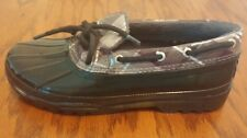 Sperry Topsiders Duckling womens black rain boots shoes size 6