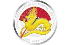 Niue 2012 $2 Lunar Year of the Dragon 1 Oz Colored Silver Proof Coin