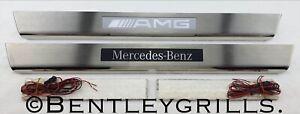 Mercedes SL R231 Illuminated Sill Kick Plates AMG BRABUS MERCEDES BENZ 2012 ON