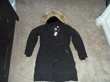 NWT CANADA GOOSE KENSINGTON PARKA BLACK WOMENS L 2506L DOWN COYOTE JACKET COAT