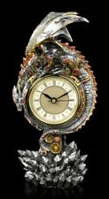Steampunk dragon Horloge de table - Clockwork règne - Gothique Mantel Stulpen