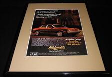 1981 Oldsmobile Omega 11x14 Framed ORIGINAL Vintage Advertisement