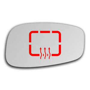 Right Side Clip On Heated Mirror Glass for Fiat Idea 2003 - 2012 0068RSHP