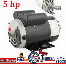 5 Hp Air Compressor Duty Electric Motor 56 Frame 3450 Rpm Single Phase 78 Usa