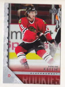 05-06 Upper Deck Duncan Keith Young Guns Rookie Blackhawks Oilers 2005