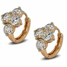 Blue Diamond Club - 9ct Rose Gold Filled Womens Stylish Hoop Earrings