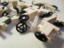 Lego 1x2 Black and White Steering Wheels (25 pieces)