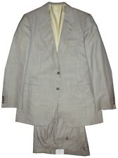 $5100 NEW BRIONI HEATHER GRAY w LIGHT BLUE STRIPE 150'S SILK SUIT EU 54 44L 44 L