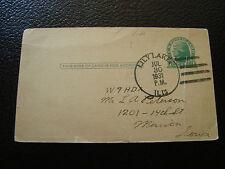 ETATS-UNIS - carte entier 1931 (pliure cassure) (cy12) united state