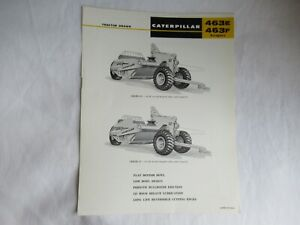 CAT Caterpillar 463E 463F tractor drawn scraper specification sheet brochure