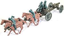 Marx Recast - 54mm Civil War Union Caisson Set - unpainted plastic colors vary