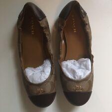 Coach Camilla Flats In Khaki/Chestnut Size 35 (Uk Size 3)