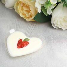 "24 /pk Elegant 3.25"" x 4.25"" Heart Plastic Disposable Dessert Plates"