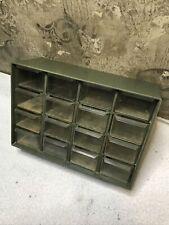 16 Drawer Plastic Storage Cabinet - Hardware Nut/Bolt Organizer Crafts Green