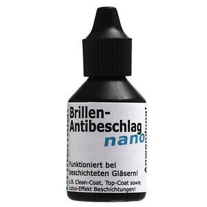 Brillen Antibeschlag nano - Hilft b. Maske & beschlagene Brille Made in EU 20 ml