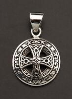 Kreuzanhänger Solar Celtic Irisch Kelten Silber 925-2.9g 25932 L28
