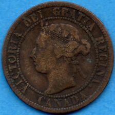 Canada 1895 1 Cent One Large Cent Coin - VG/F
