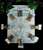 8 Sabbat Incense & Wheel of the Year Poster Wicca Pagan