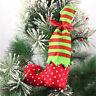 Caldo Natale Elf Boot Shoes Calza Decori albero di Natale appeso Regali Candy