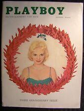 Original Playboy Magazine December 1956 Lisa Winters Julie Newmar Anniversary