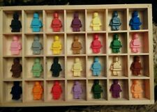 ORIGINAL HANDMADE MINI LEGO TYPE MEN 3D HANGING ARTWORK unusual gift see pics