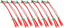 Zest 10 Christmas Hair Braids Plaits with Holly on Clips Slides Red