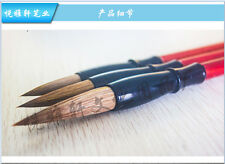 3pcs  Brush Pen Chinese Calligraphy Weasel Wolf Hair Writing Painting Art Craft
