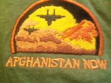 afghanistan Now green graphic 2XL FIGHTER PLANES t shirt