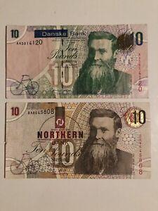 Lot of 2 Northern Ireland banknotes