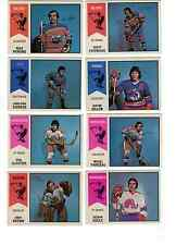 1974-75 OPC WHA lot - pick only the cards that you need EX-MT - $4 each