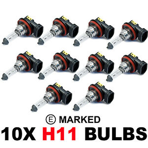 10 x Brand New H11 711 HEADLAMP HEADLIGHT FOG CAR BULBS 12v 55w PGJ19-2