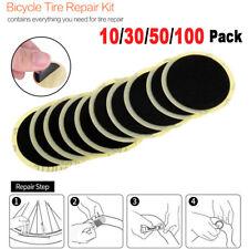 100x Fahrrad Selbstklebende Flickzeug Reifenreparatur Flicken Panne Gummi Patch