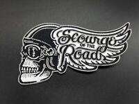 Parche Scourge of the road skull biker patch motor custom rider rockabilly rock