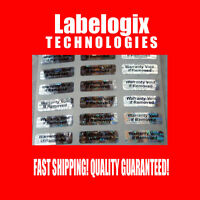 100 SMALL HOLOGRAM WARRANTY VOID SECURITY LABELS STICKERS SEALS