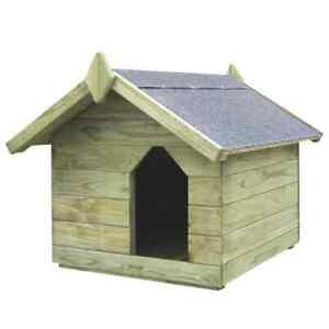 Cuccia per Cane da Esterno Tetto Apribile in Legno di Pino Casetta per Cani