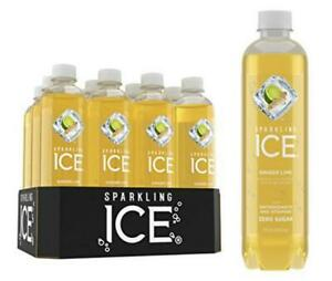 Sparkling Ice, Ginger Lime Water, with antioxidants and vitamins,...