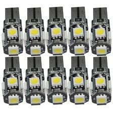 10x 168 194 W5W 5 SMD T10 White Led Error HOT light Bulb Wedge Side Canbus 2016