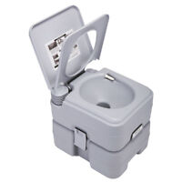 Outdoor/Indoor Portable 20L 5 Gallon Toilet Flush Commode Camping Commode Potty