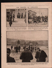 WWI Lorraine Général Joffre Drapeau 106e Régiment d'Infanterie 1915 ILLUSTRATION