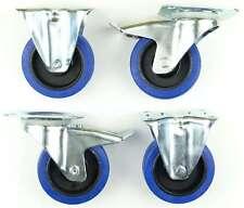 1 Set SL 100 mm roulettes pivotante  + fixe  transport BLUE WHEELS