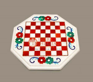 Marble Chess Board, Inlay Stone Chess Board For Gift, Valentine Gift For Him Art