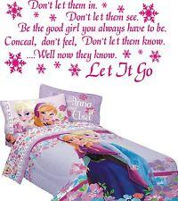 Frozen Disney quote wall art stcker Let it go lyrics