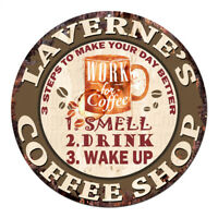 CWCS-0455 LAVERNE'S COFFEE SHOP Tin Sign Birthday Mother's day Gift Ideas