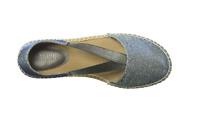 Kenneth Cole REACTION Iridescent BLUE MERMAID How Elastic Flat Espadrille Sandal